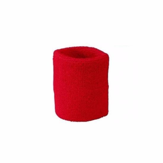 Rood zweetbandje voor pols