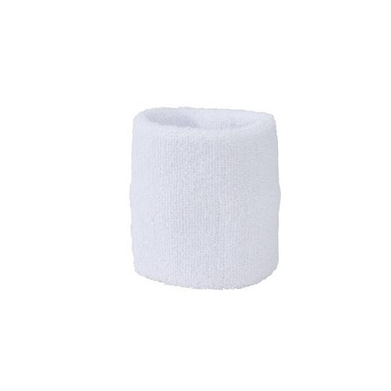 Wit zweetbandje voor pols