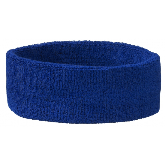 Hoofd zweetbandje blauw
