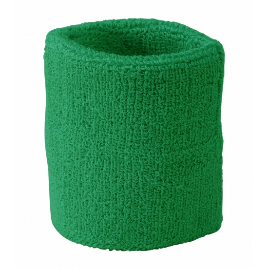 Groen zweetbandje voor pols