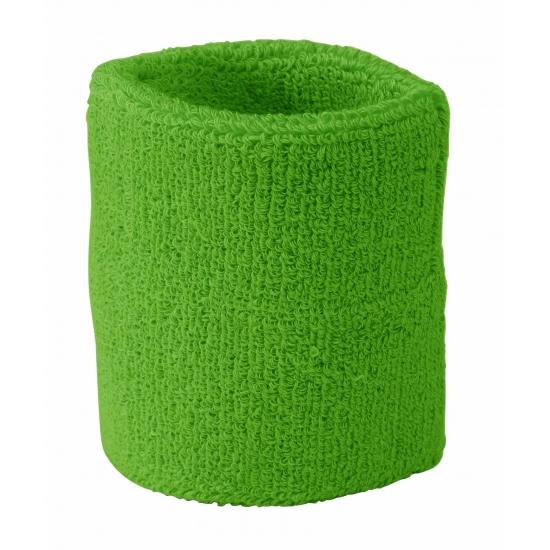 Lime groen zweetbandje voor pols