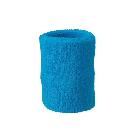 Turquoise blauw zweetbandje voor pols