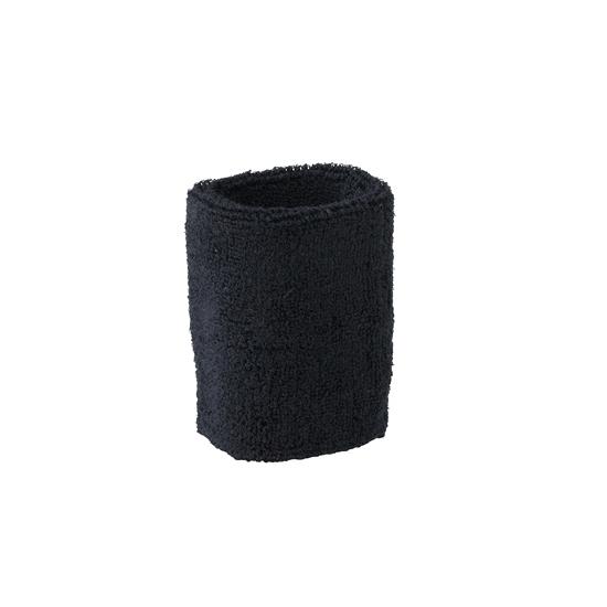 Zwart zweetbandje voor pols