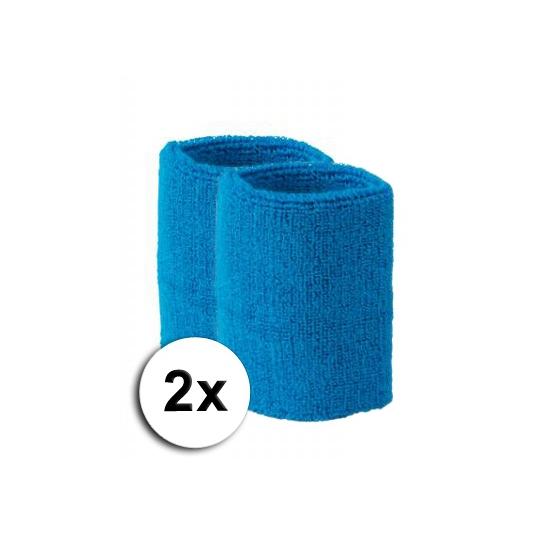Aqua pols zweetbandjes 2 stuks