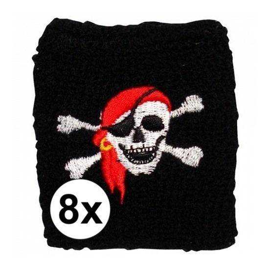8 stuks piraten zweetbandje