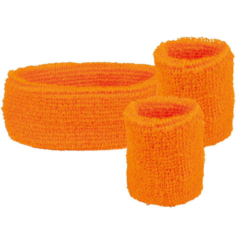 Oranje holland fan artikelen haarband met zweetbandjes 10279236